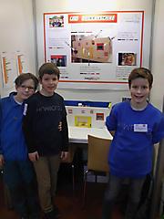 Lemmy Schreiber, Johannes und Christopher Hengstmann: Technik Schüler exp.,  2. Platz;