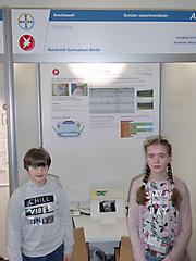 Annabell Ehrlich, Jonathan Wentzeck: Arbeitswelt Schüler exp., 2. Platz und Sonderpreis MINT für ein interdisziplinäres Projekt